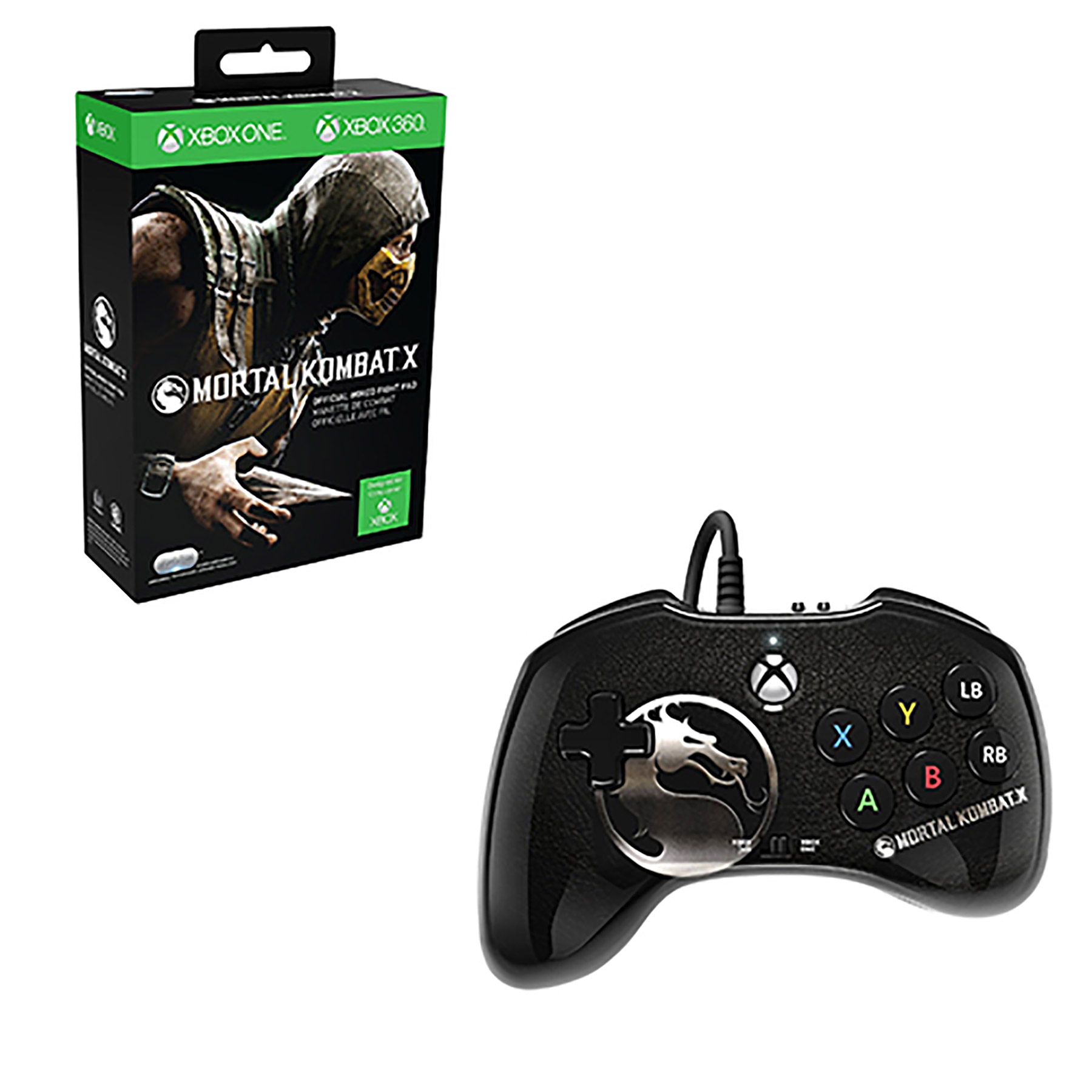 Xbox One – Controller – Wired – Mortal Kombat (PDP)