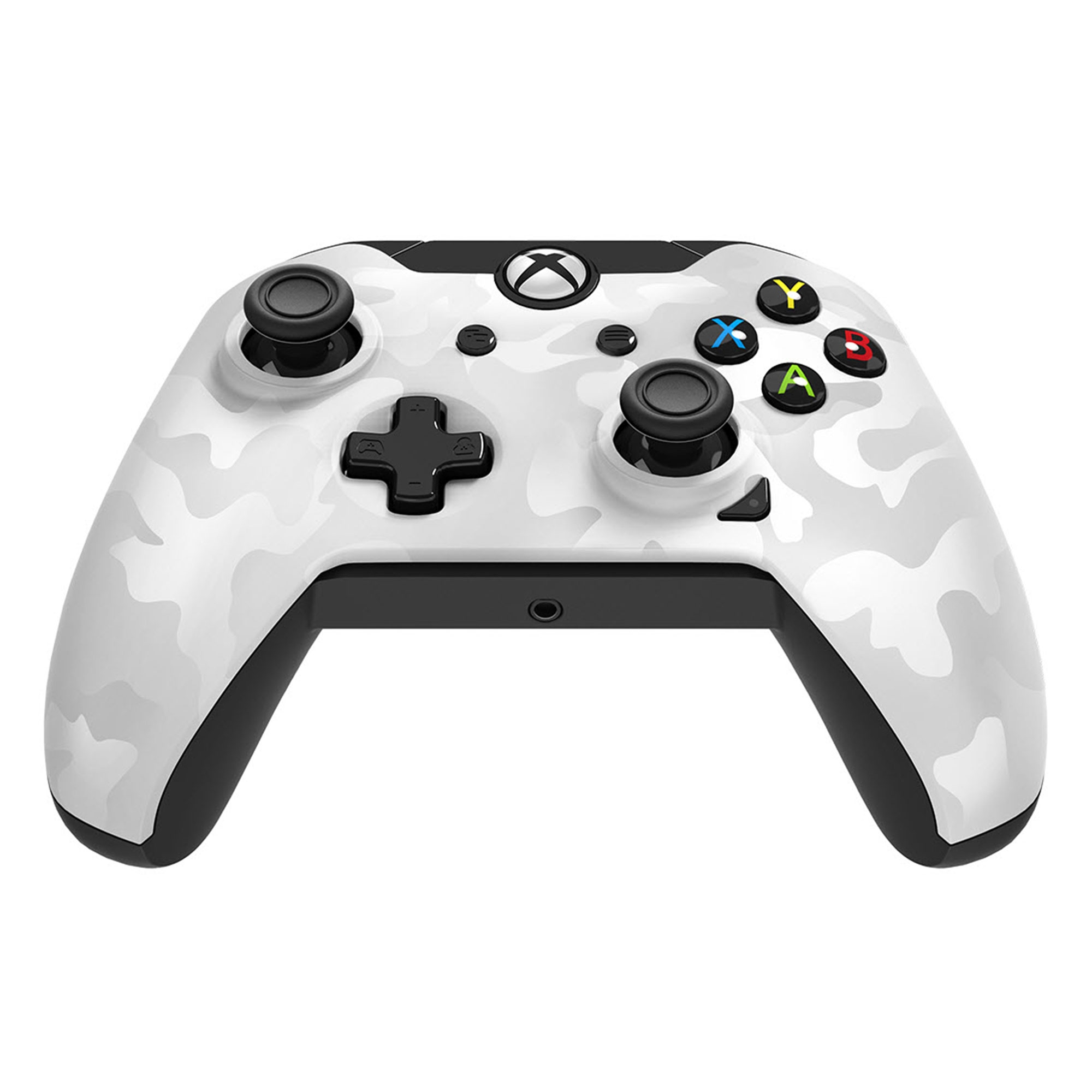Xbox One – Controller – Wired – 3.5mm White Camo (PDP) – Game World