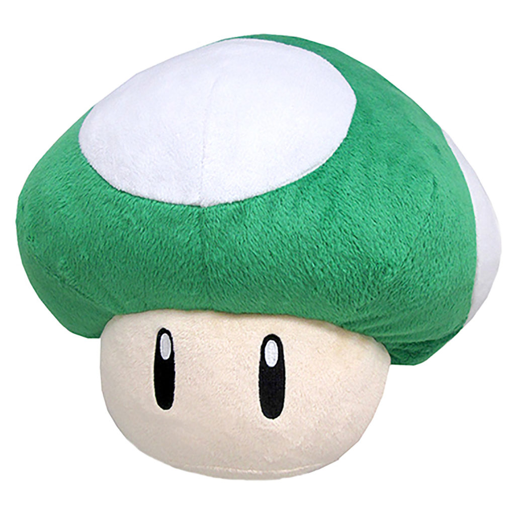 Toy - Super Mario - Plush - 1UP Mushroom Pillow (Nintendo)