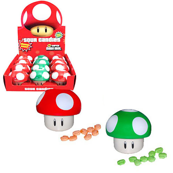 Candy - Super Mario Mushroom - Sour Candy - 12 Pack (Nintendo)