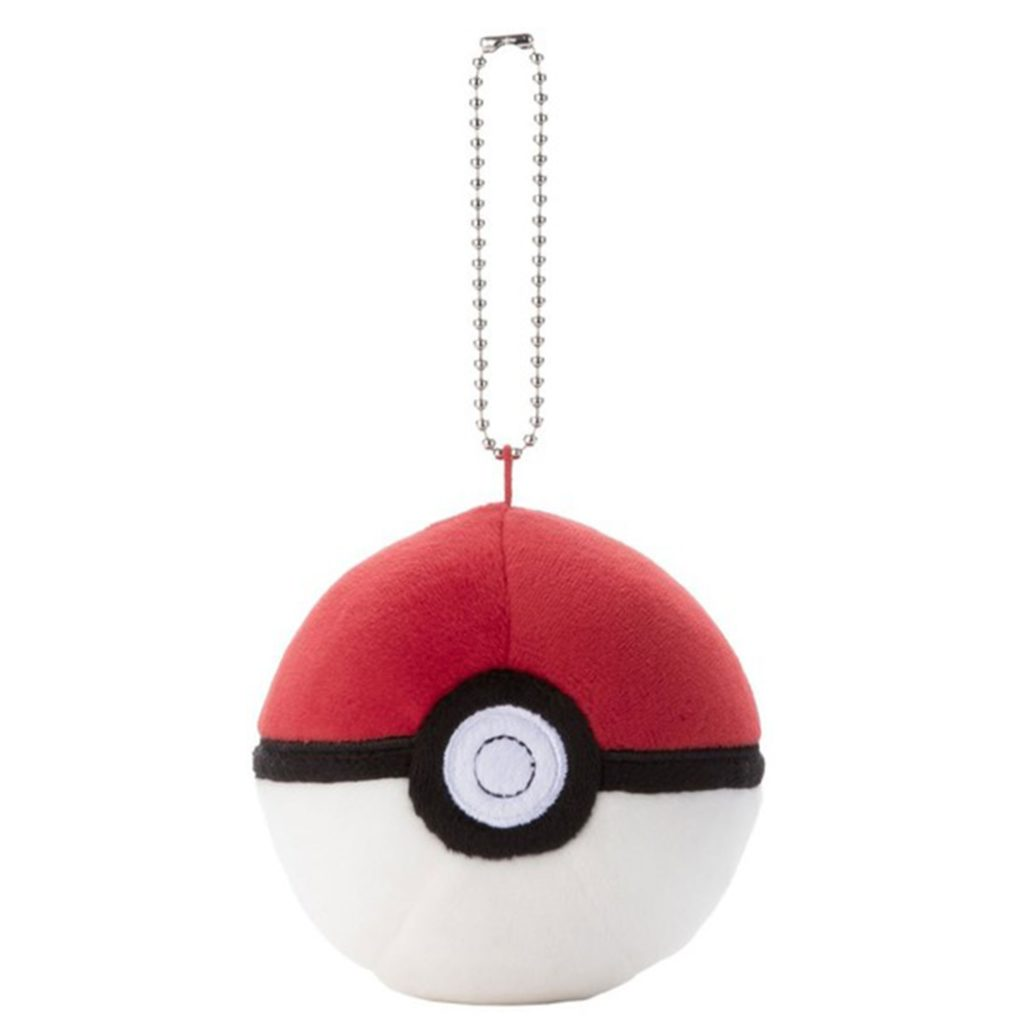 "Toy - Plush - Pokemon - 3"" Mocchi Mocchi Pokeball Keychain - PokeBall"
