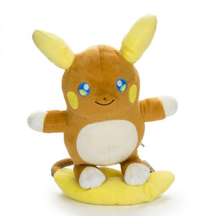 "Toy - Plush - Pokemon - 10"" Raichu Alolan Form Plush"