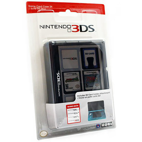 3DS - Case - Game Card 24 - Black (Hori)
