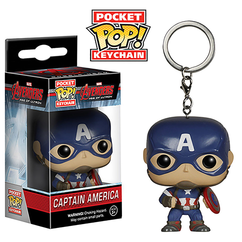 Toy - Pocket POP Keychain- Vinyl Figure - Avengers: Age Of Ultron - Captain America (Marvel)