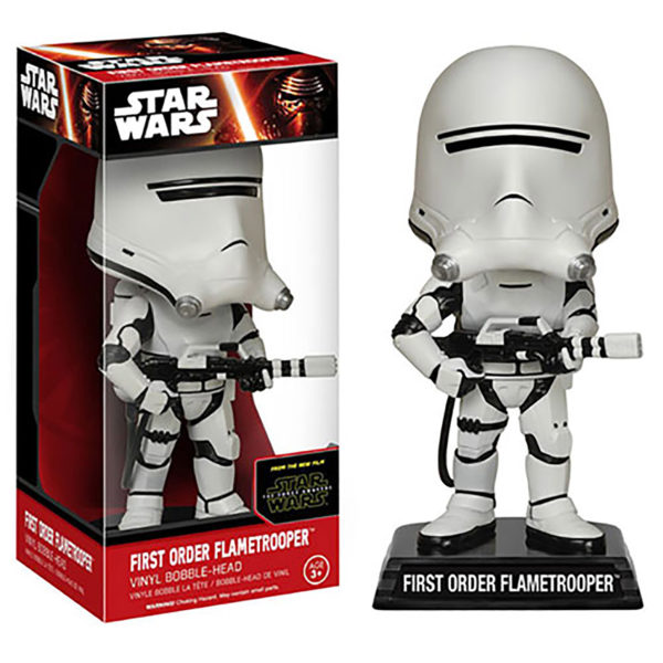 Toy - Star Wars: The Force Awakens - Wacky Wobbler - First Order Flametrooper