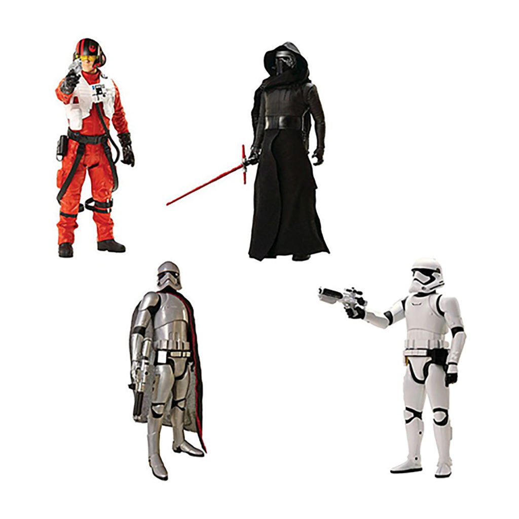 "Toy - Jakks - Action Figure - Star Wars: The Force Awakens - 20"" Figure Wave 1 - 6 pc Assortment (2 Kylo Ren, 1 Poe Dameron, 2 First Order Stormtrooper, 1 Captain Phasma)"