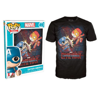 Novelty - Funko - T-Shirt - POP - Size XL -  Marvel - Civil War Fight