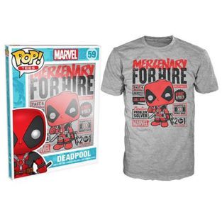 Novelty - Funko - T-Shirt - POP - Size XL -  Deadpool - Hire