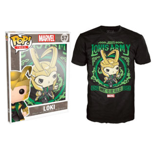 Novelty - Funko - T-Shirt - POP - Size Large -  Marvel - Loki's Army Poster