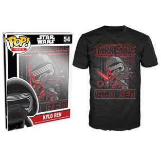 Novelty - Funko - T-Shirt - POP - Size Medium -  Star Wars Episode 7 - Kylo Ren Poster