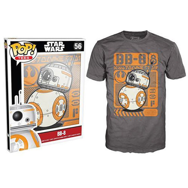 Novelty - Funko - T-Shirt - POP - Size Large -  Star Wars Episode 7 - BB-8 Type Poster