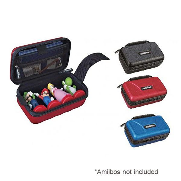 3DS - Case - Amiibo Game Traveler - Assorted Carrying Case (Blue or Black or Red) - Compatible with New 3DS XL / New 3DS / 3DS XL / 3DS