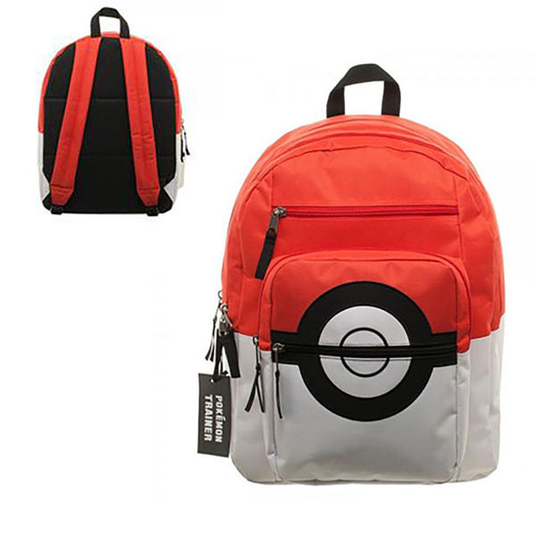 Novelty - Backpack - Pokemon - Pokeball Backpack with Trainer Bag Charm