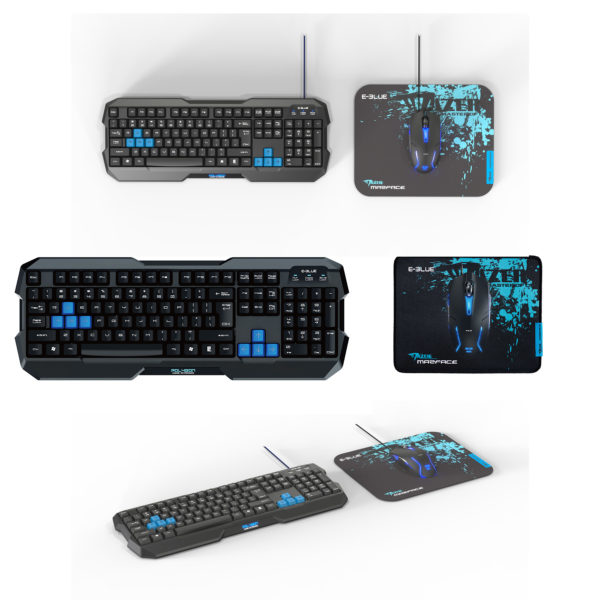 PC - Cobra EKM820 Keyboard Mouse Mousepad Combo Pack