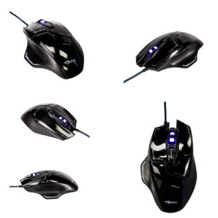 PC - Mazer EMS642 Wired Black Gaming Mouse