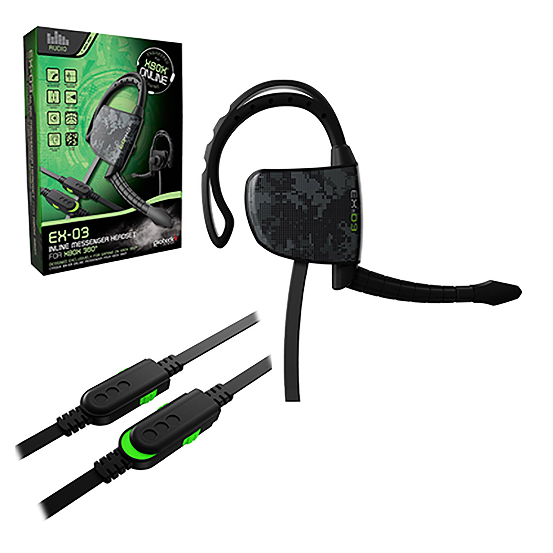 Xbox 360 – Headset – Wired – EX-03 Headset (Gioteck) – Game World