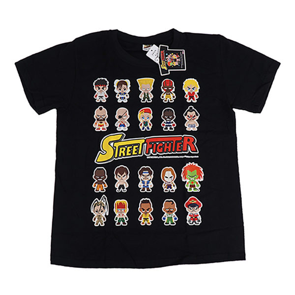 Novelty - Street Fighter - T-Shirt - Size Medium - Black Style 2 - Rows