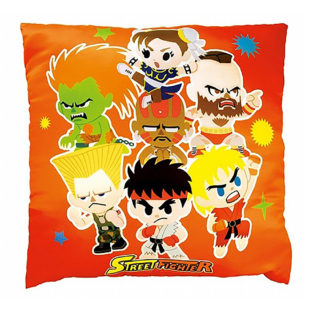 Novelty - Street Fighter - Square Pillow - Orange