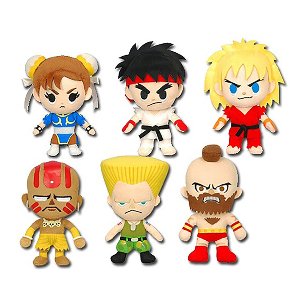 "Toy - Street Fighter - 11"" Plush - Assorted - 6pc Set"