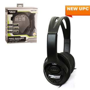 Xbox 360 - Headset - Live Pro Gamer Headset with Mic - Black - LARGE (KMD)