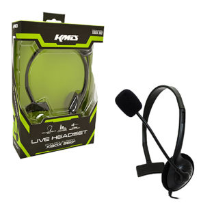 Xbox 360 - Headset - Live Chat Headset with Mic - Black - SMALL (KMD)