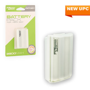 Xbox 360 - Battery - Rechargeable Battery Pack - Stylized - White (KMD)