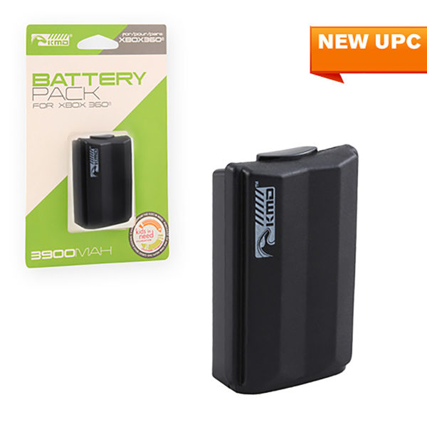 Xbox 360 - Battery - Rechargeable Battery Pack - Stylized - Black (KMD)