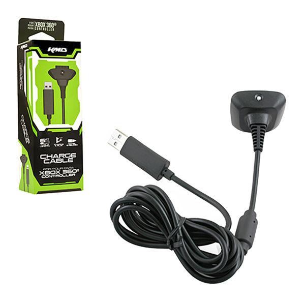 Xbox 360 - Charger - Charge Cable - Black (KMD)