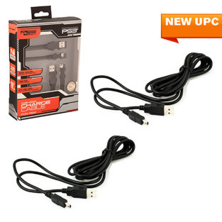 PS3 - Cable - Charge Cable - Twin Pack  9FT (KMD)