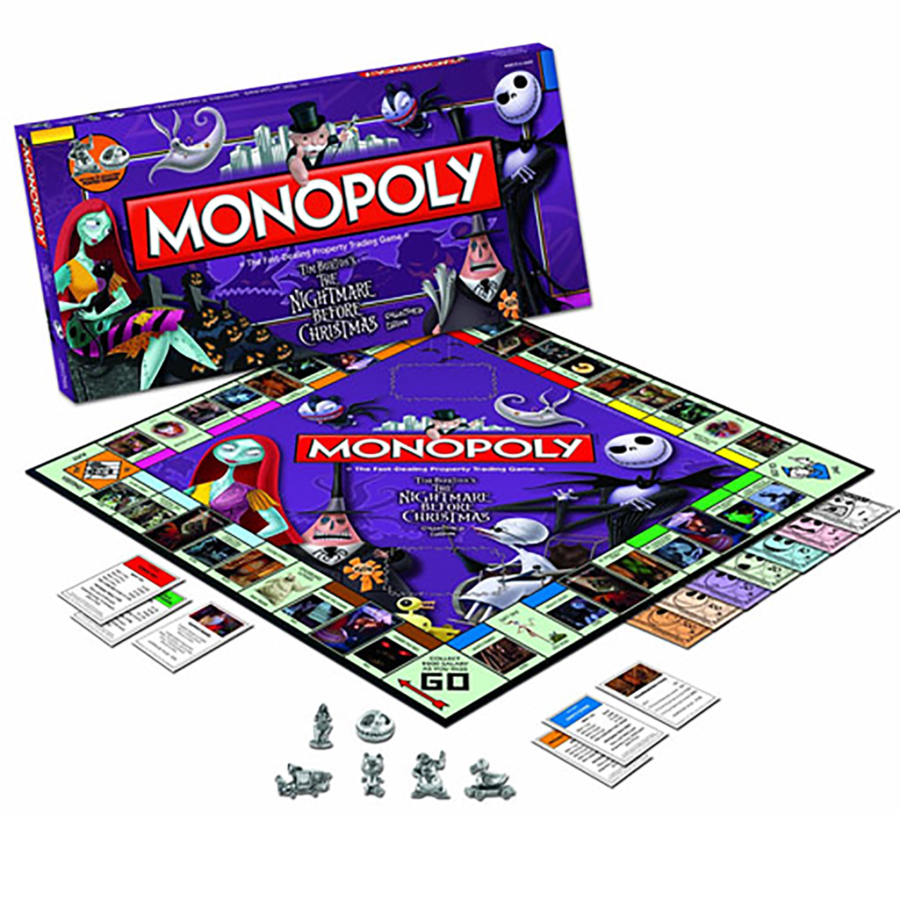 toy board game the nightmare before christmas monopoly - The Nightmare Before Christmas Games