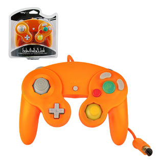 Gamecube - Wii - Controller - Wired - New - Orange (TTX Tech)