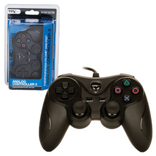 PS2/PS1 - Controller - Wired - New - Similar functions of DualShock 2 - Black (TTX Tech)
