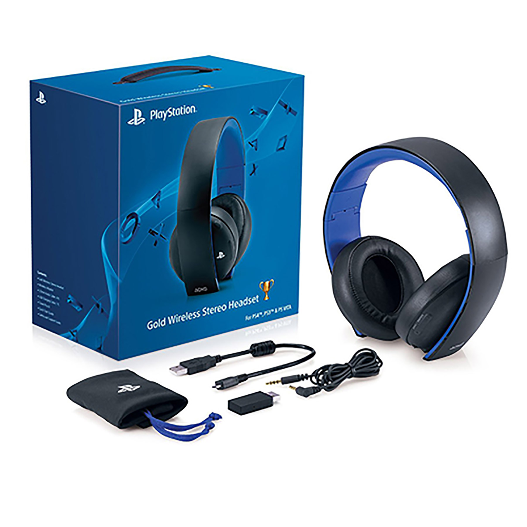PS4 – Headset – Wireless – Gold Stereo Headset (Sony) – Game World