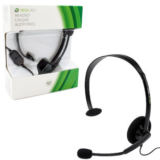 Xbox 360 - Headset - Wired - Black - New (Microsoft)
