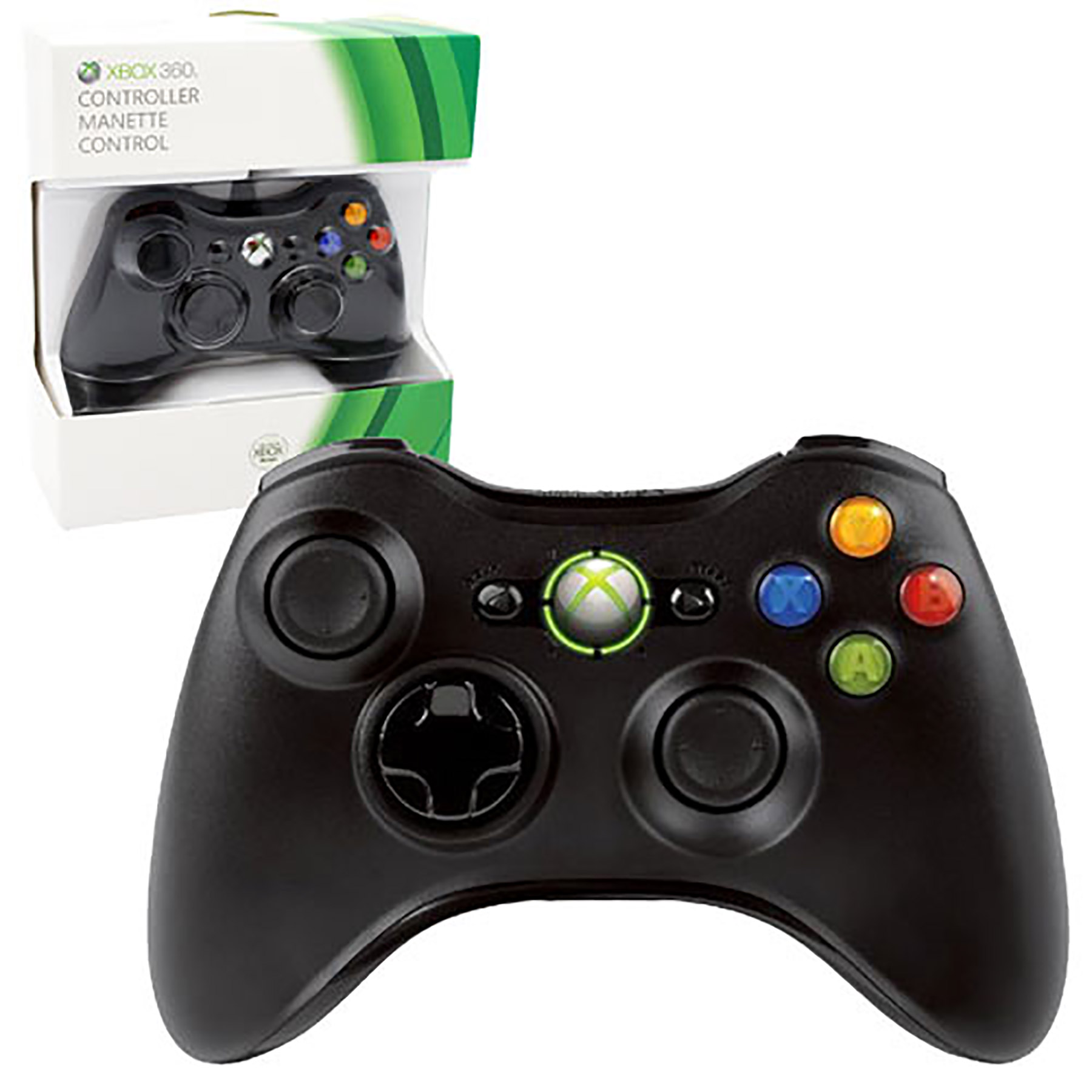Xbox 360 Controller Wired Black Microsoft Game WorldXbox 360 Controller Wired