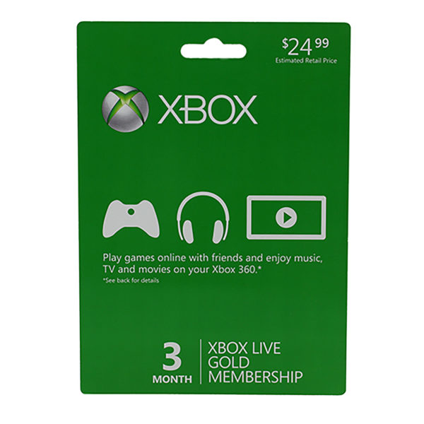 Xbox 360 - Xbox One - Subscription Card - Xbox Live - 3 Month Gold (Microsoft)