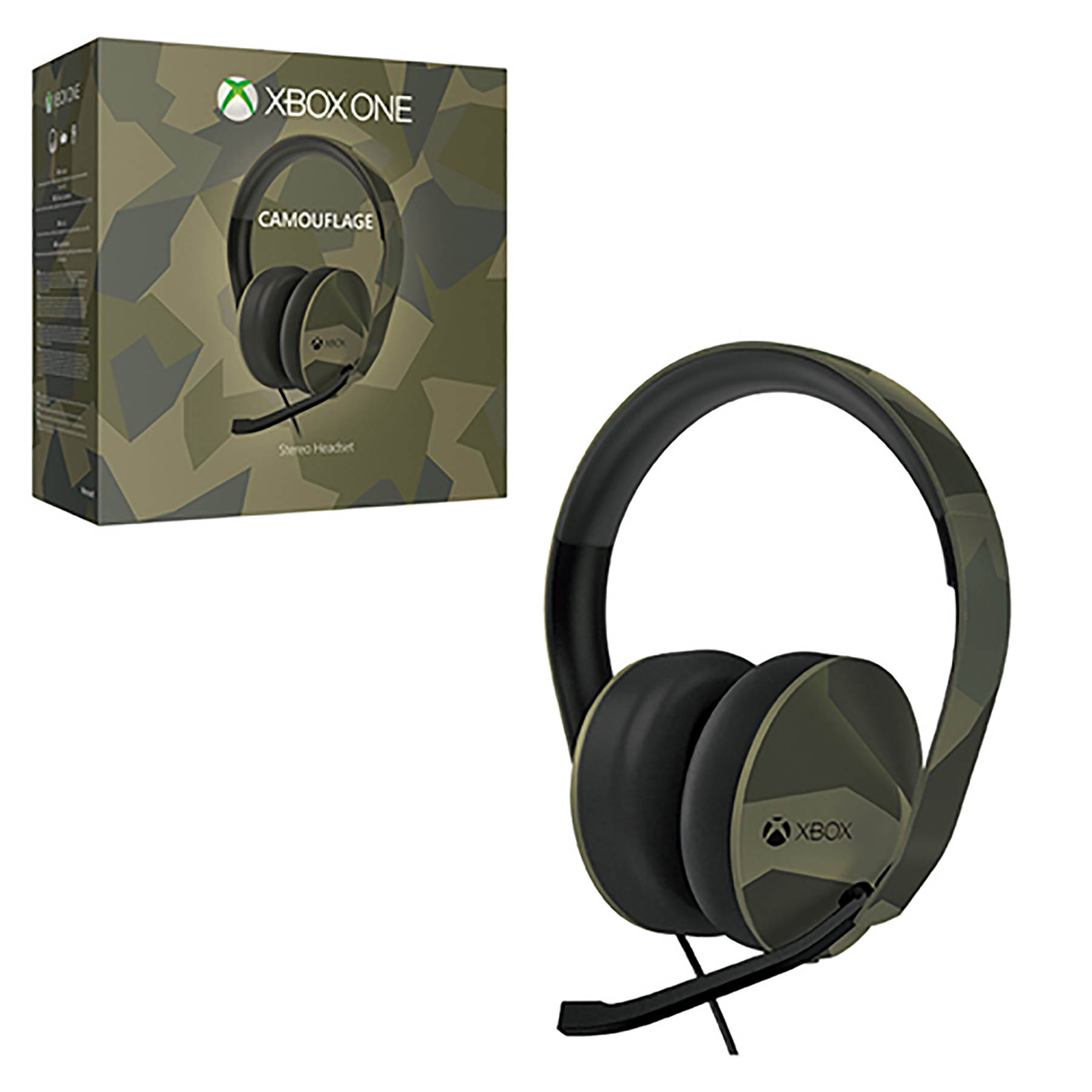 ccdbc25434a Xbox One - Headset - Wired - Stereo Headset - Armed Forces Limited Edition ( Microsoft