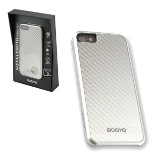 iPhone 5 - Case - Metalsmith Carbon Fiber - Liminous Silver (Odoyo)