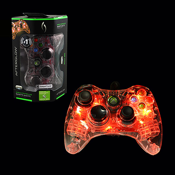 Xbox 360 - Controller - Wired - Microsoft Afterglow - Red (PDP)