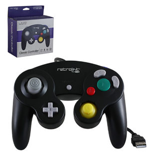 PC - Controller - Wired - Gamecube Style - USB Controller for PC & Mac - Black (Retrolink)