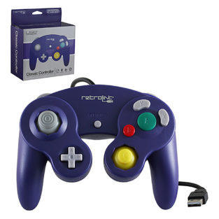 PC - Controller - Wired - Gamecube Style - USB Controller for PC & Mac - Purple (Retrolink)