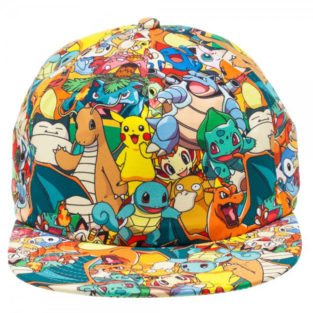 Novelty - Hats - Pokemon - All Over Sublimated Snapback