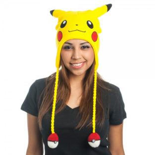Novelty - Hats - Pokemon - Pikachu Face Laplander