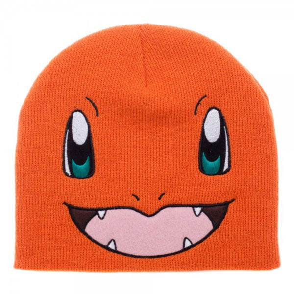 Novelty - Hats - Pokemon - Charmander Big Face Knit Beanie