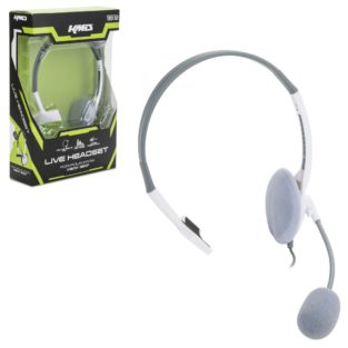 Xbox 360 - Headset - Live Chat Headset with Mic - White - Small (KMD)
