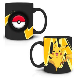 Novelty - Ceramic Mugs - Pokemon - Pikachu Spinner - 2PK Set