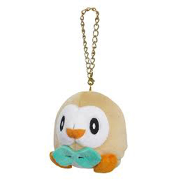 "Toy - Plush - Pokemon - 3"" Rowlet Plush Charms"