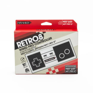NES Classic Edition - Wired Controller - Retro 8 Pro Controller - Compatible With Wii/Wii U (Retro-Bit)