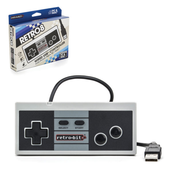 PC - Controller - Wired - NES Style - USB Controller for PC & Mac (Retro-Bit)