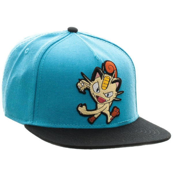 Novelty - Hats - Pokemon - Meowth Color Block Snapback
